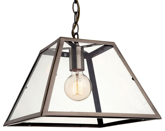 Kew Modern Single Pendant, Antique Brass