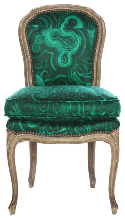 Tony Duquette / Belvedere Malachite Chair eclectic chairs