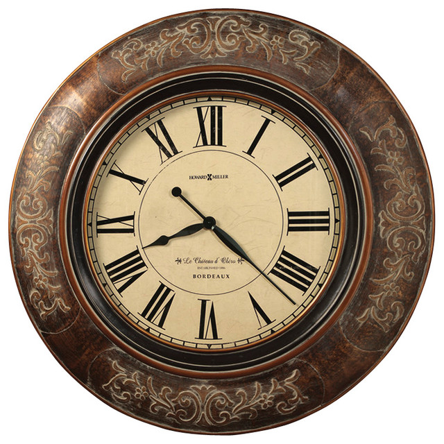 Howard Miller Howard Miller 37 1 4 Quot Large Brown Wall Clock