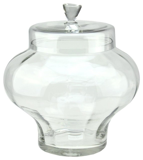 14.5 Transparent Segmented Glass Container With Lid.