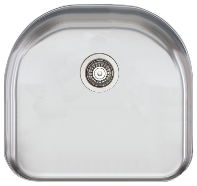 Extra Deep Kitchen Sink: Large D Shaped Single Bowl Sink Extra Deep