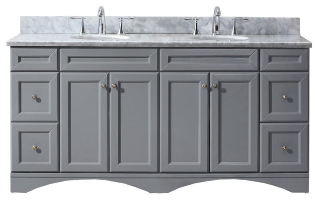 Sensational Virtu Usa Talisa 72 Double Round Sink Grey Top Vanity In Grey Download Free Architecture Designs Grimeyleaguecom