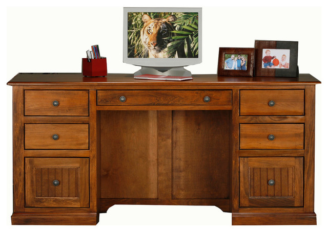 Eagle Furniture Coastal Double Pedestal Desk Transitional Desks And Hutches By