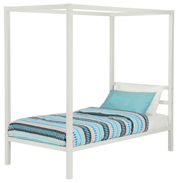 white metal platform canopy bed frame no box necessary size canopy beds by