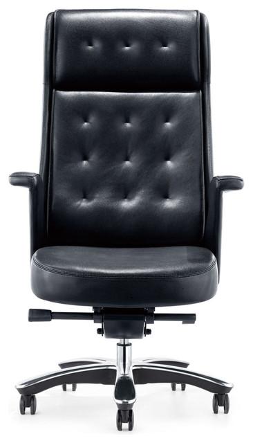 Magnificent Rockefeller Genuine Leather Executive Chair Black Download Free Architecture Designs Terchretrmadebymaigaardcom