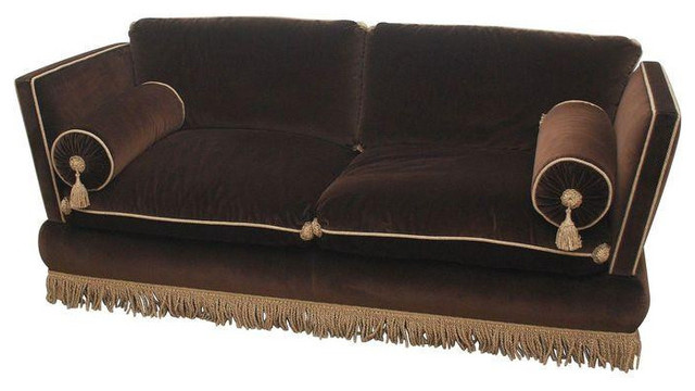 Ordinaire Custom One Of A Kind Brown Velvet Sofa   $8,000 Est. Retail   $4,500 On  Chairish