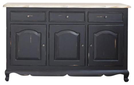 London Mahogany and Teak Wood 3-Door Sideboard, 3 Drawers