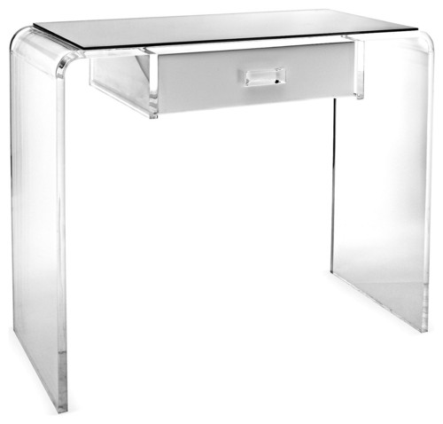 Nice LOVE This Clear/Lucite Waterfall Vanity Table