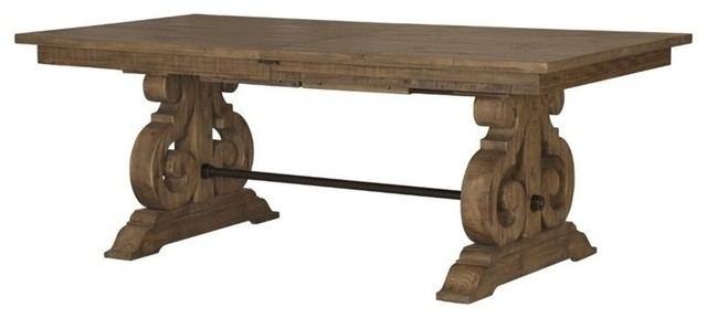 Rectangular Dining Table in Weathered Barley