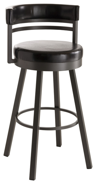 Amisco Ronny Upholstered Back Swivel Stool 41442 Contemporary Bar Stools And Counter Stools By Htc Stores