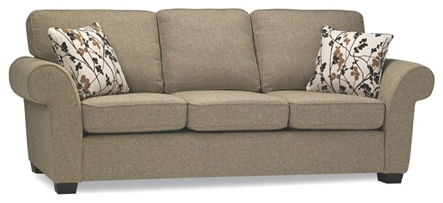 Transitional fabric sofabed traditional sleeper sofas for Transitional sectional sofa sleeper