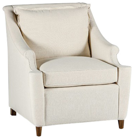 GABBY Gabby Theo Rolled Arms Chair With Flange Indoor Chaise Lounge Chairs