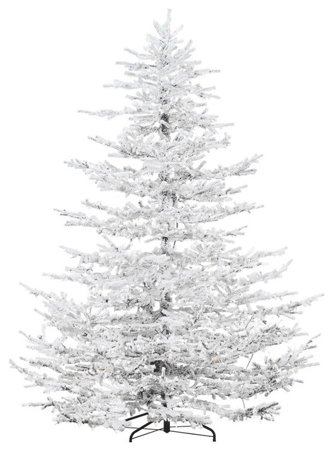9' Arctic Pine Artificial Christmas Tree, Multi-Color Led String Lights