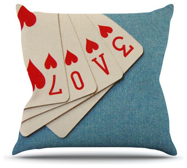 Skye Zambrana Quot Love Quot Throw Pillow Contemporary Outdoor
