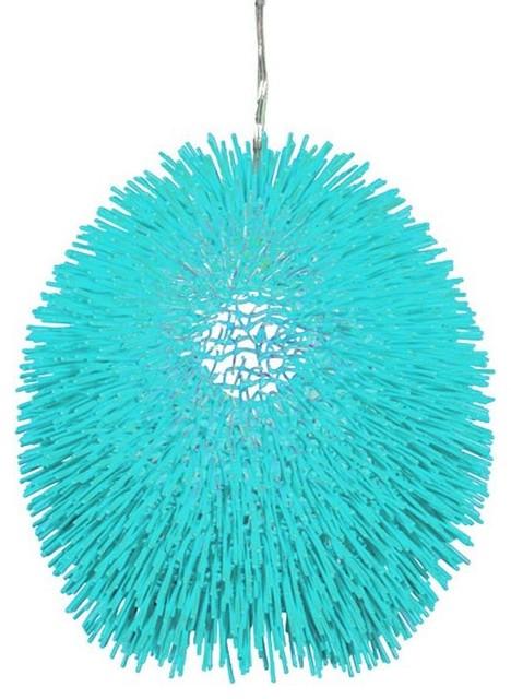 Urchin one light pendant contemporary pendant lighting by urchin one light pendant aqua velvet contemporary pendant lighting mozeypictures Choice Image