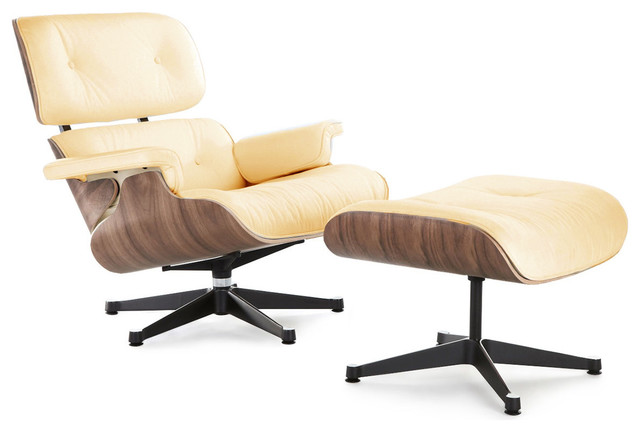 Classic lounge chair replica midcentury indoor chaise - Replica chaise lounge ...
