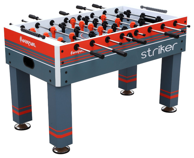 Harvil Striker 54 Inch Foosball Table For Kids And Adults Contemporary Game  Tables