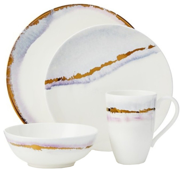 Lenox Winter Radiance 4-Piece China Set  sc 1 st  Houzz & Lenox Winter Radiance 4-Piece China Set - Contemporary - Dinnerware ...