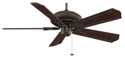 Belleria 52 Ceiling Fan, Motor Only, Aged Bronze.