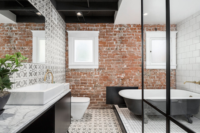 16 Tricks To Update Exposed Brick Houzz Uk