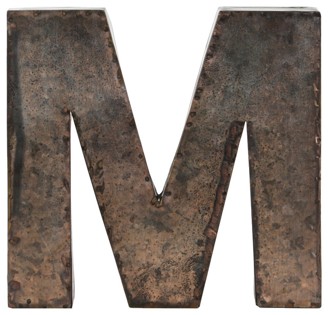 "Metal Alphabet Wall Decor Letter ""M"""