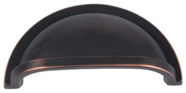 Cosmas 404-192fb Flat Black Slim Line Euro Style Cabinet Pull