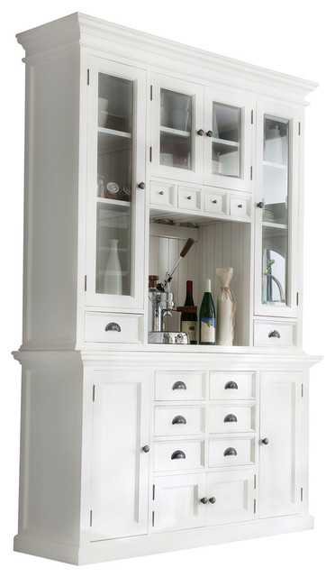 Novasolo Halifax Bca597 Kitchen Hutch Unit Traditional China Cabinets And Hutches