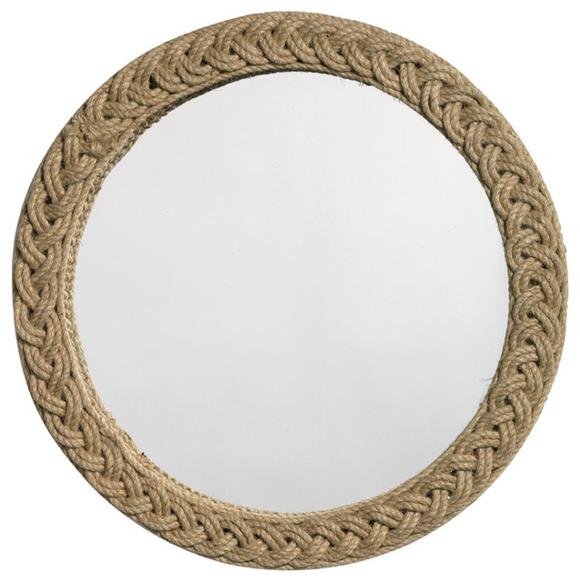 Braided Round Jute Mirror.