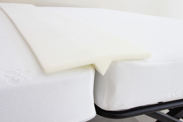 """Ress White Foam Bed Joiner, Doubling System, Bridge Mattress Connector, 75""""."""