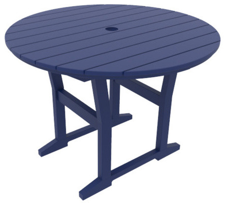 Cafe Fusion 40 Round Dining Table Transitional Outdoor Dining Tables By Coastline Casual