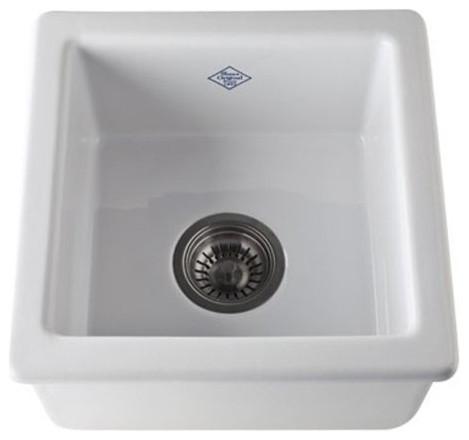 Shaws 15-in Undermount Fireclay Kitchen Sink in White - Transitional ...