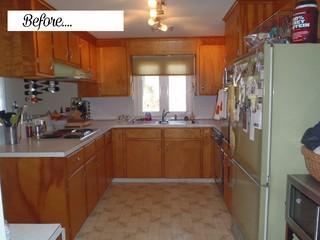 Retro turned modern kitchen!