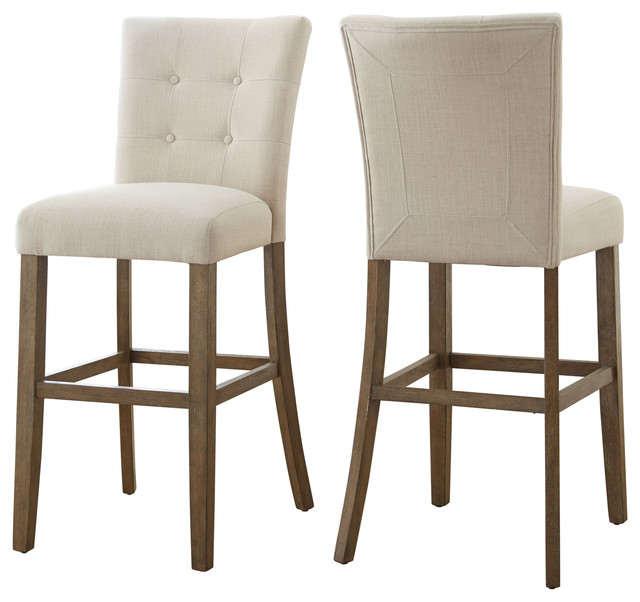 Steve Silver Steve Silver Debby Bar Chairs Beige Set Of