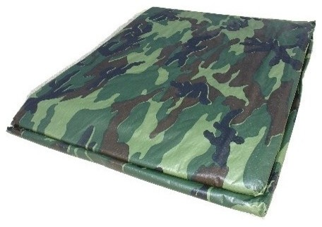 The 23302185 Dize, 8&x27;x10&x27;, Camo Poly Tarp.