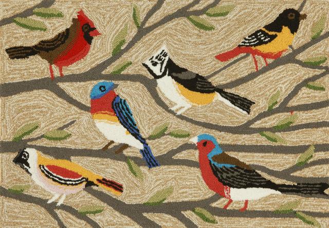 Frontporch Birds Mat, Neutral, 20x30, Neutral, 24x36.