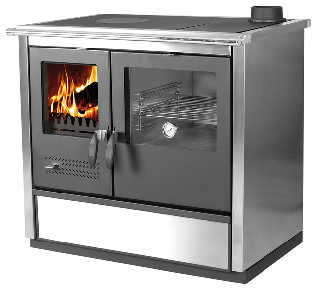 Wood Burning Cook Stove North Stainless Steel