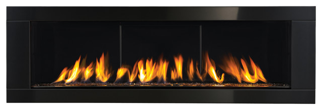 """Napoleon Vector 62"""" Linear Gas Fireplace Direct Vent Modern Large."""