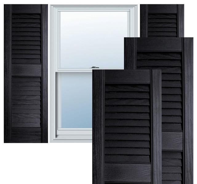 Open Louver Window Shutters W