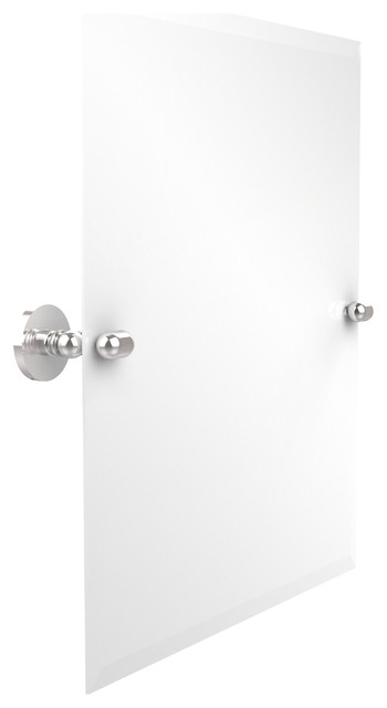 Rectangular tilt mirror polished chrome contemporary bathroom mirrors by avondale decor llc Polished chrome bathroom mirrors