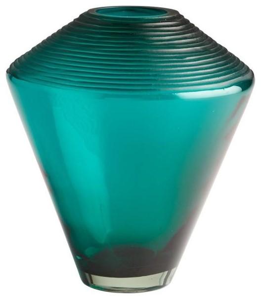 Cyan Lighting 11 25 Medium Pietro Vase Green Finish