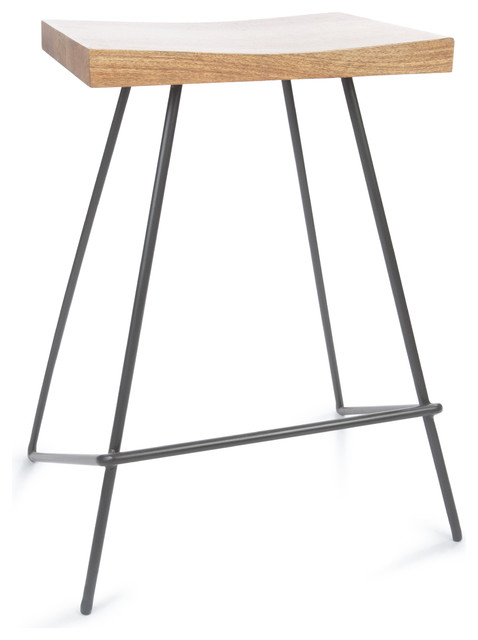 Monty Metal and Wood Counter Stool