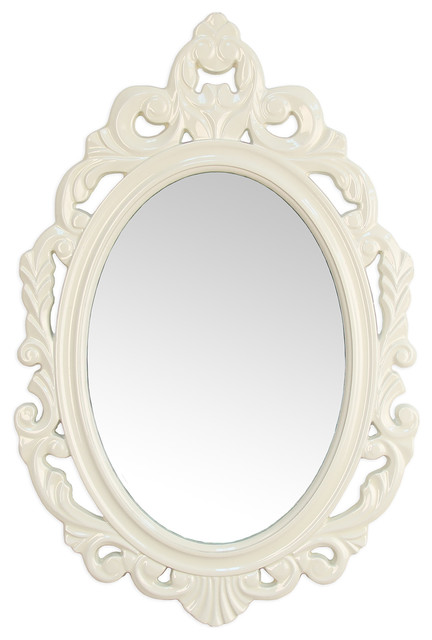 stratton home decor white baroque mirror