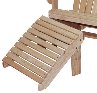 Cypress Adirondack Chair Footrest