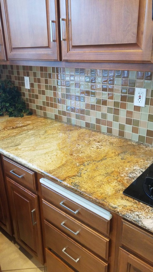 what color white for cabinets with gold/brown granite?