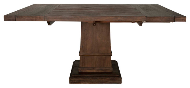 Hudson Square Extension Dining Table Rustic Java Transitional Folding Tables