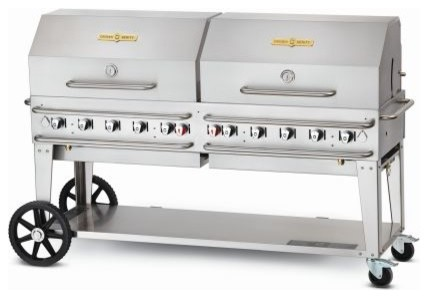 "72"" Rental Grill With Roll Domes And Bun Racks, Propane."