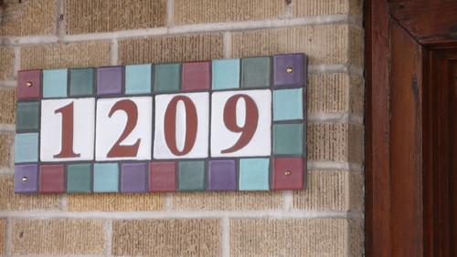 Tile Address Plaque