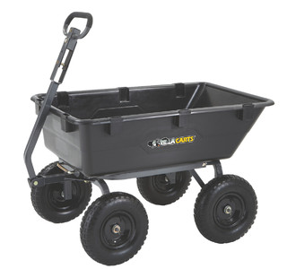 Gorilla Carts Heavy Duty Poly Yard Dump Cart 2 In 1