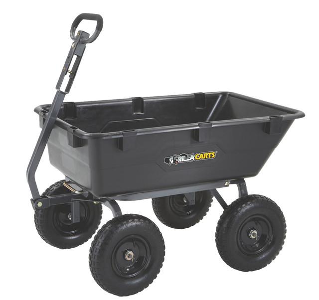 Gorilla Carts Heavy Duty Poly Yard Dump Cart 2 In 1
