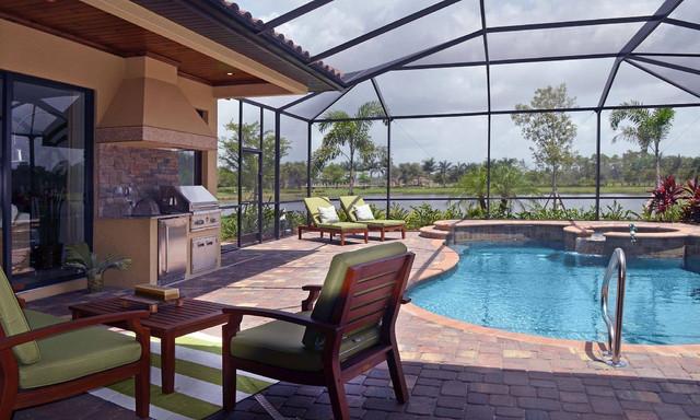 outdoor kitchen beach style exterior miami by